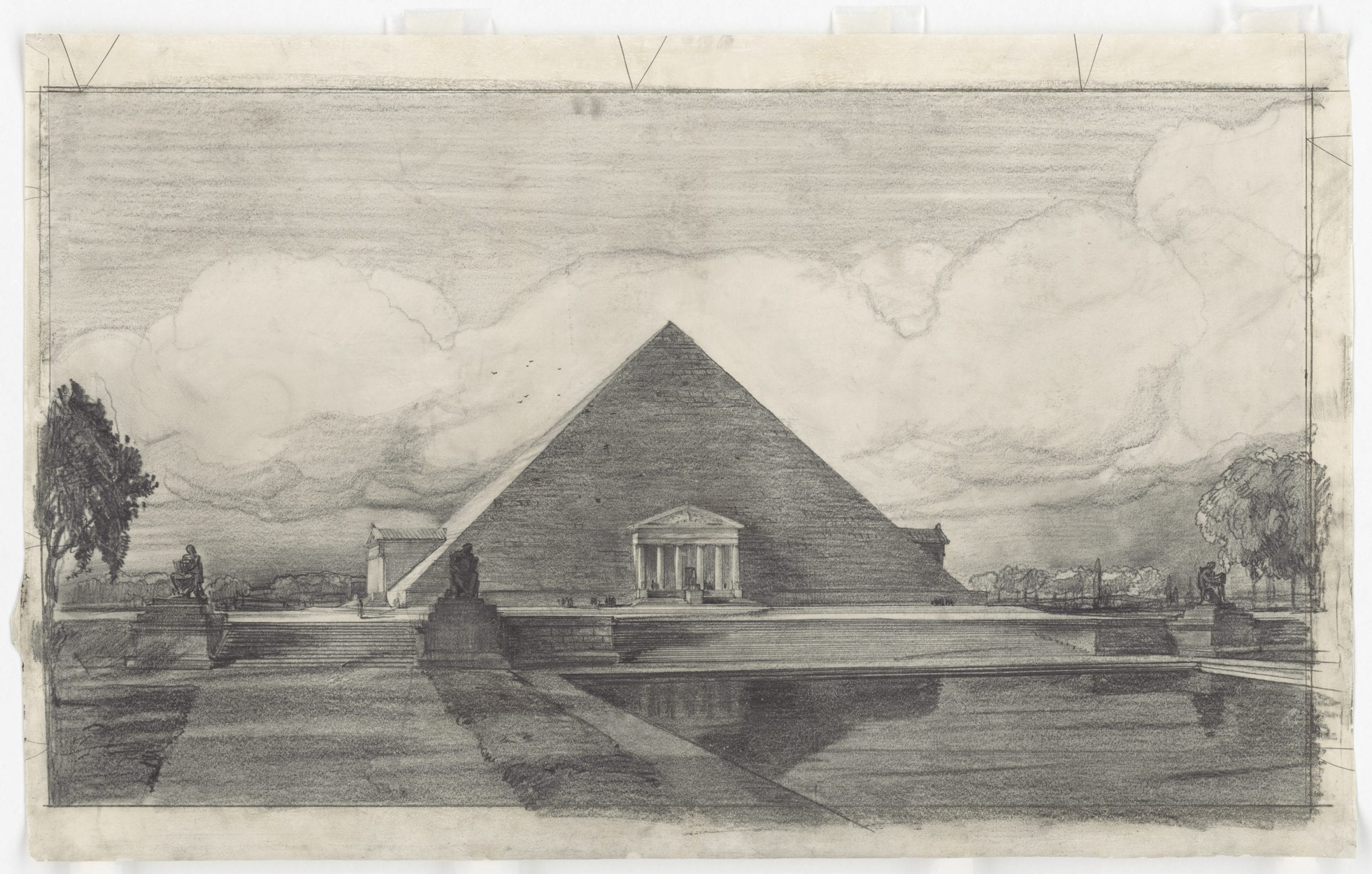John Russell Pope's Competition Proposal for a Pyramid with Porticoes Style Monument to Abraham Lincoln, 1912