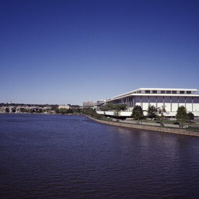 Kennedy Center from the Potomac River in Washington, D.C.