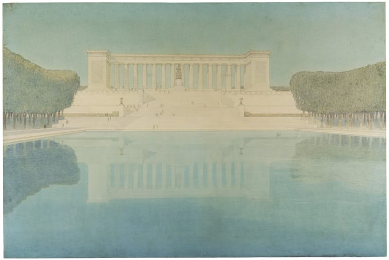 Henry Bacon's Competition Proposal for a Monument to Abraham Lincoln, 1912