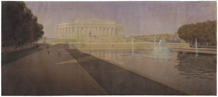 John Russell Pope's Competition Proposal for a Monument to Abraham Lincoln , 1912