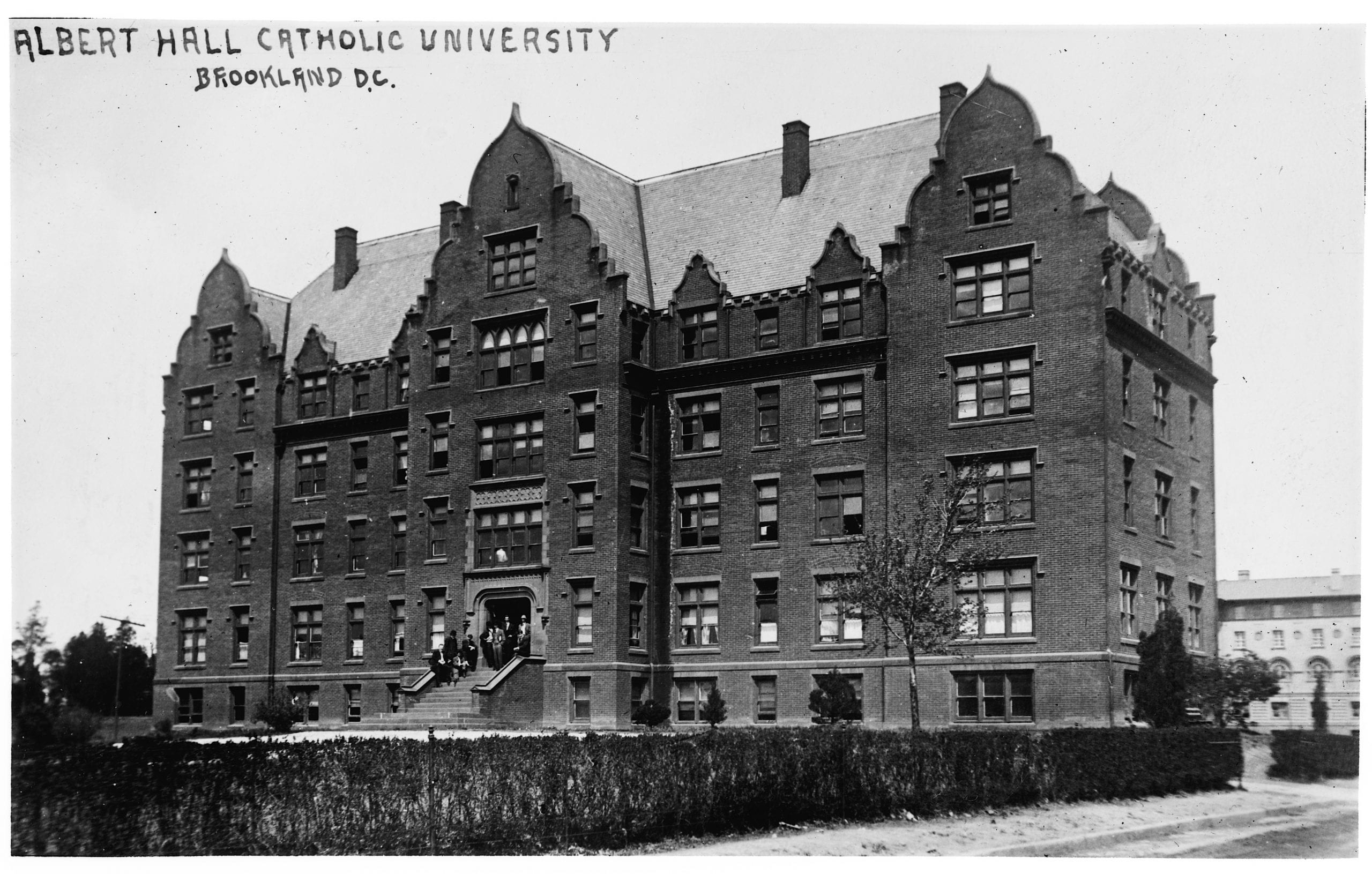 Albert Hall at Catholic University in the 1910s