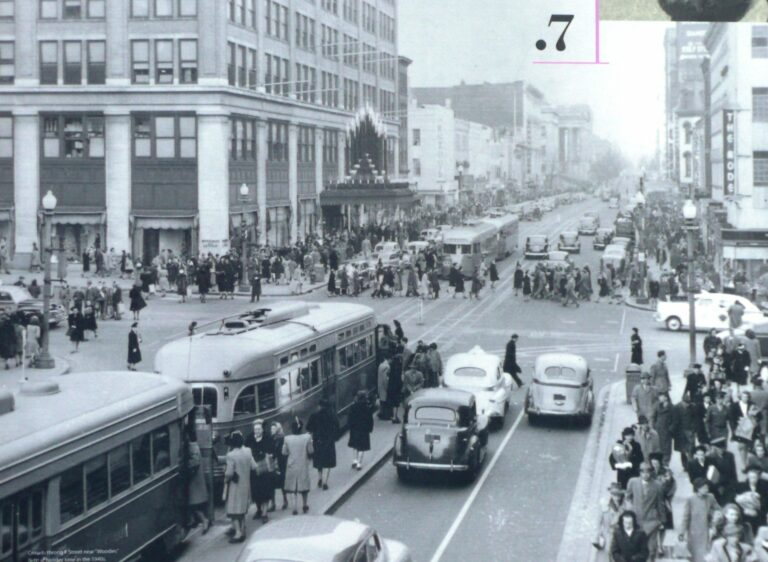 downtown Washington at F St. in 1942