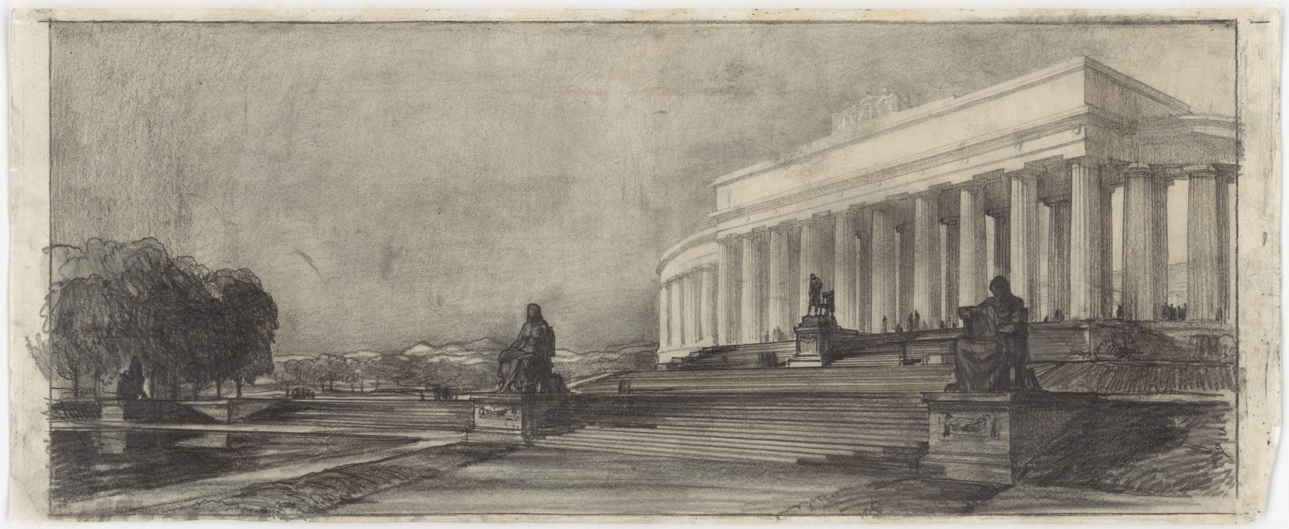 John Russell Pope's Competition Proposal for a Circular Colonnade Style Monument to Abraham Lincoln, 1912