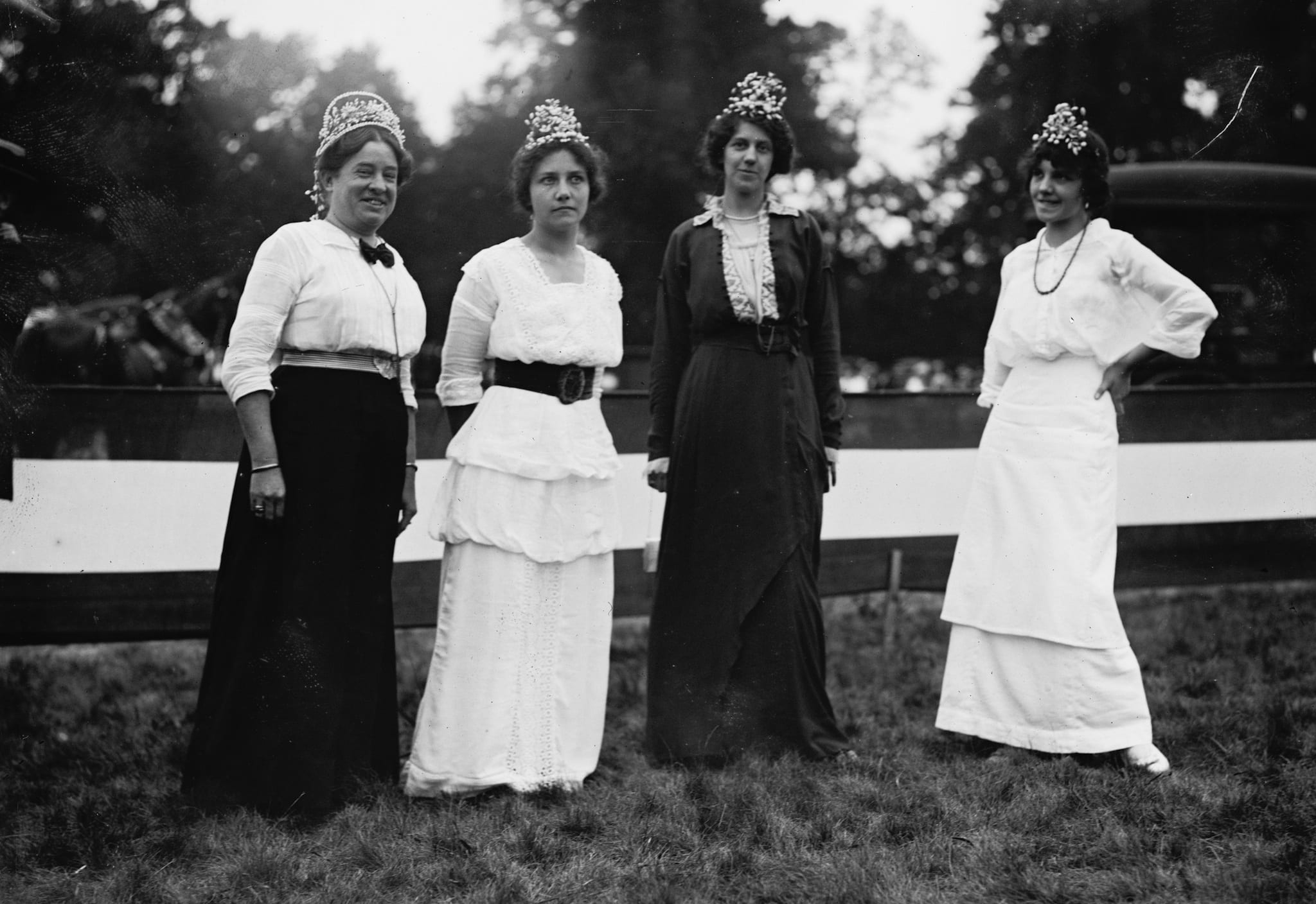 four women celebrating the Fourth of July in Rock Creek Park
