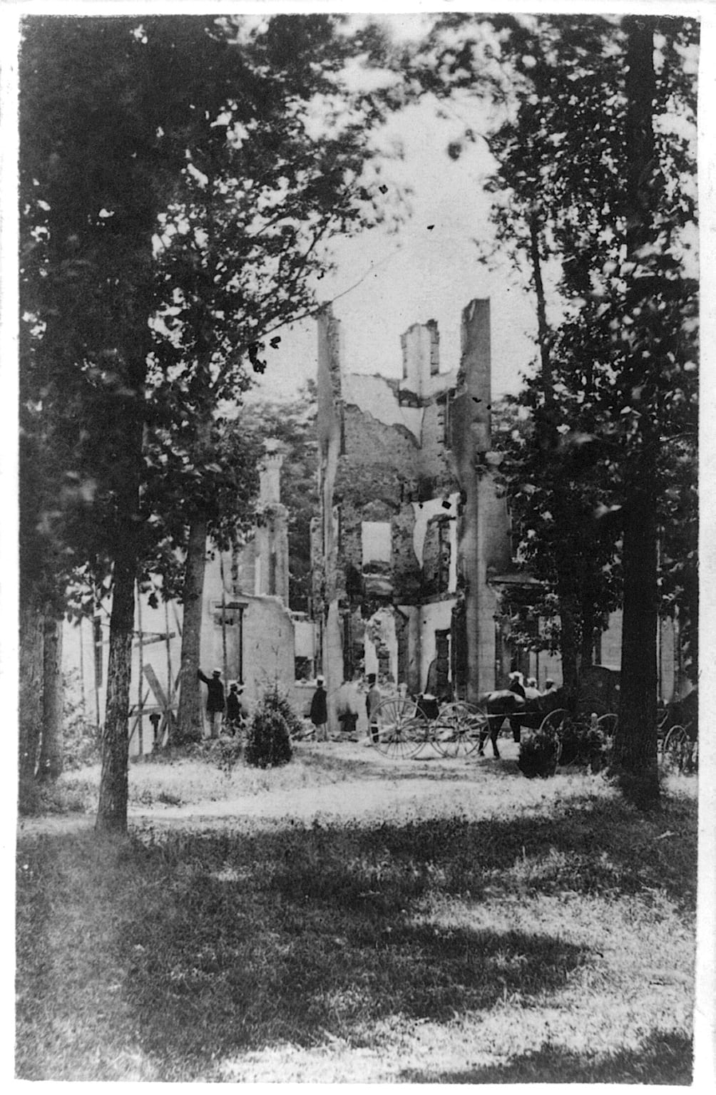 Ruins of Montgomery Blair's Home at Silver Spring