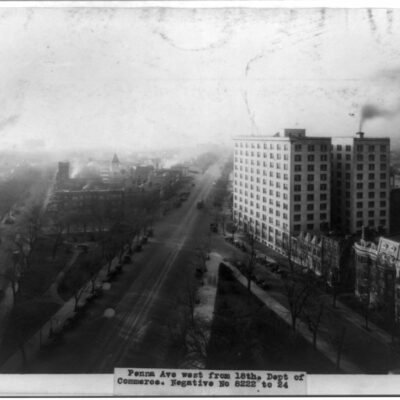 Bird's-Eye View West on Pennsylvania Ave. From 18th St.