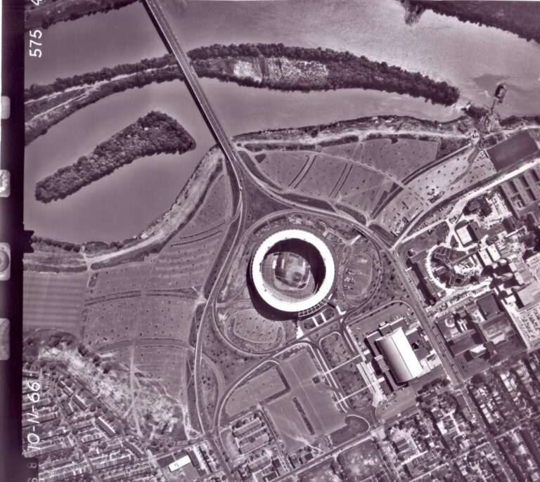 aerial view of RFK stadium