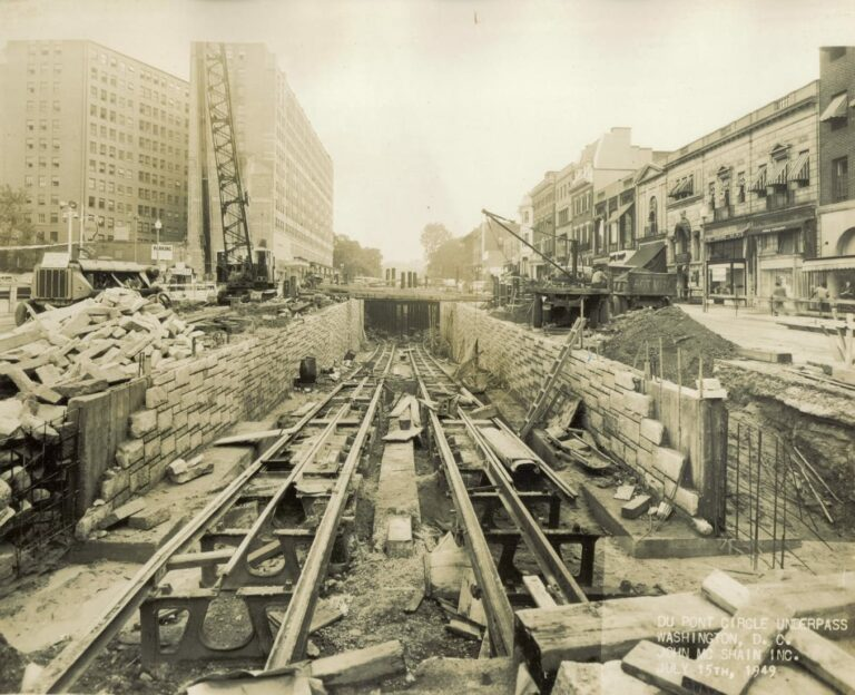 Dupont Circle underpass construction