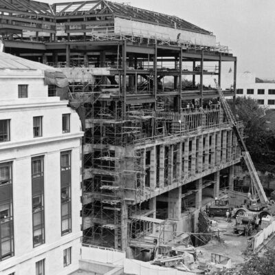 Construction of the third office building for the U.S. Senate in 1979.