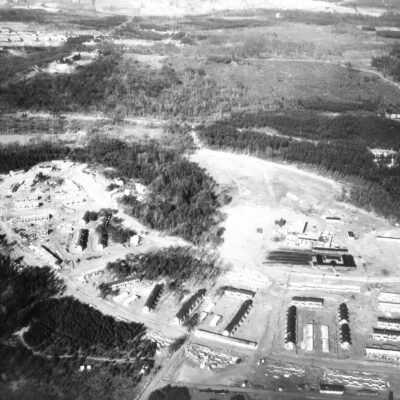 Greenbelt as seen from the air during construction (Library of Congress)