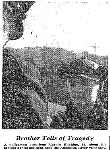a policeman questsion Marvin Hankins about his brother's fatal accident (Washington Post)
