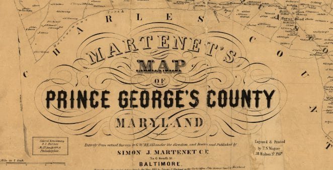 Detailed 1861 Map of Prince George's County