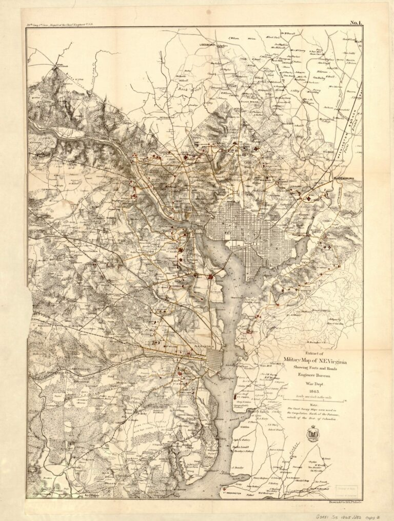 1865 Civil War map of D.C.