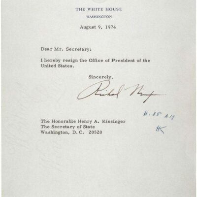 Richard Nixon's letter of resignation