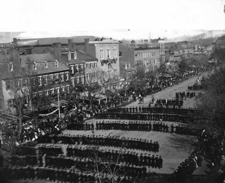 Washington, D.C. President Lincoln's funeral procession on Pennsylvania Avenue (April 19th, 1865)