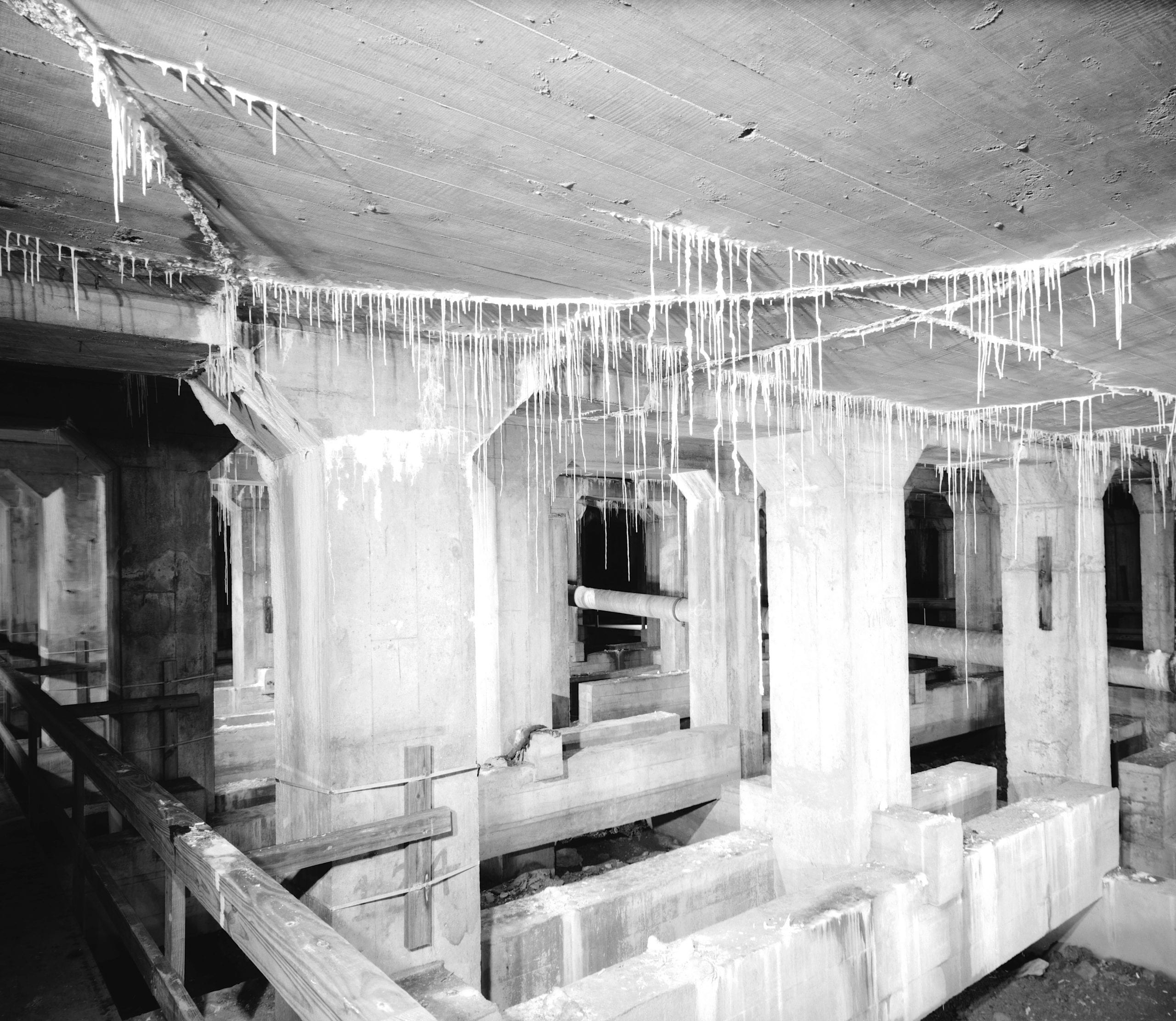 Basement below east terraces. 3 June 1991. - Lincoln Memorial, West Potomac Park, Washington, District of Columbia, DC