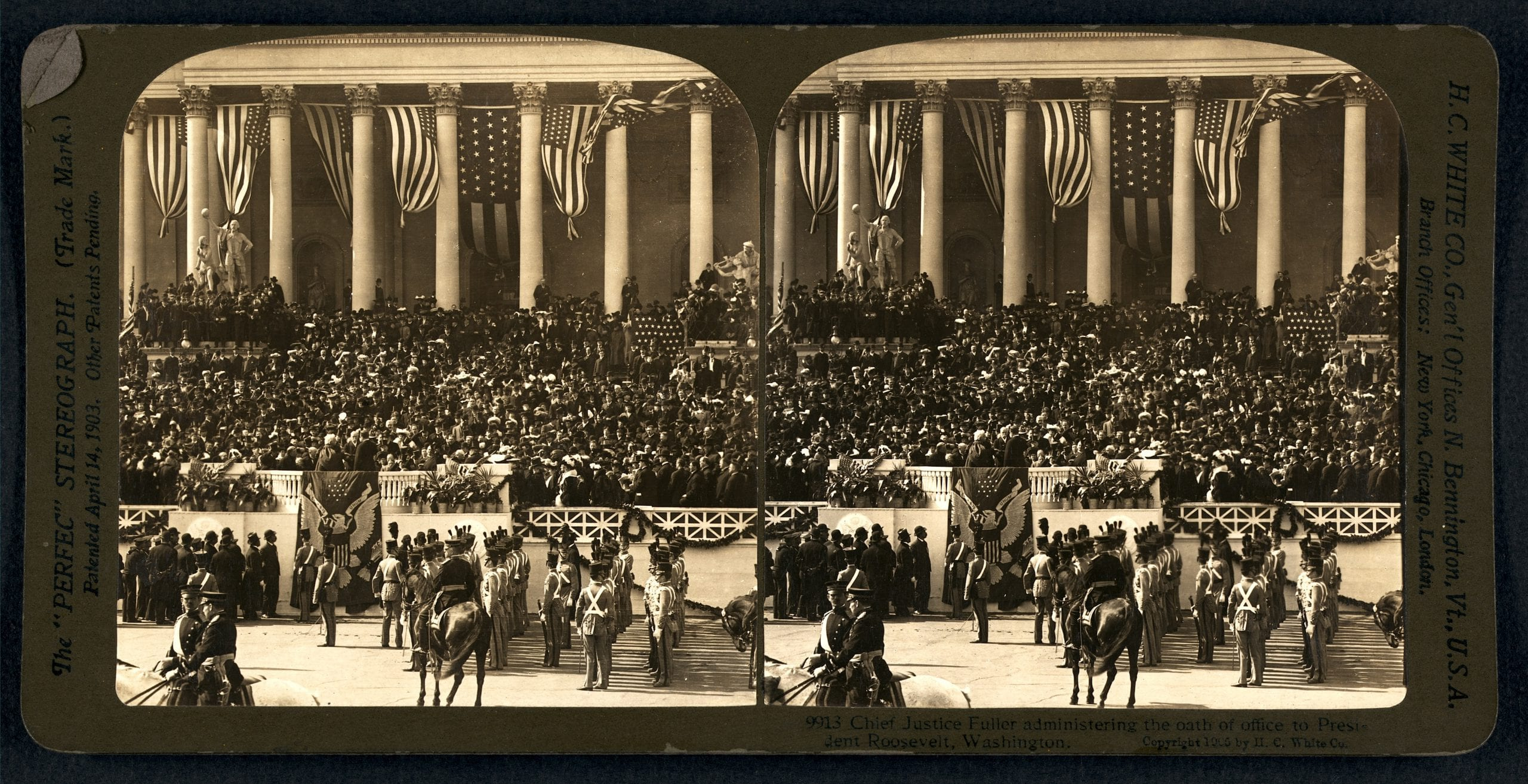 Teddy Roosevelt's inauguration in 1905
