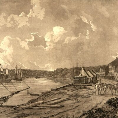 waterfront view of Georgetown in the 1790s