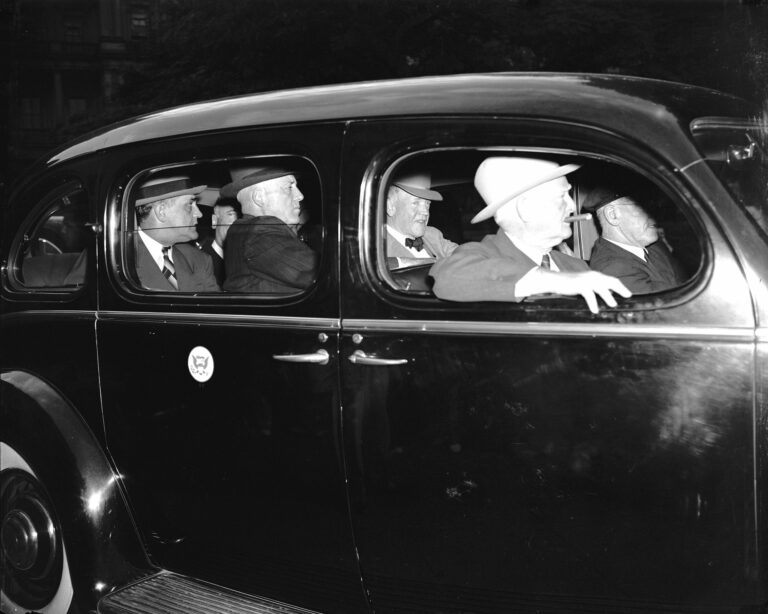 Vice President John N. Garner and others in automobile