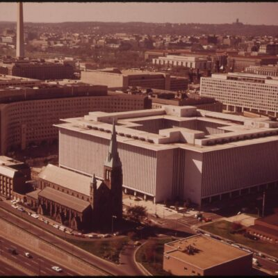L'Enfant Plaza From the Air in 1973