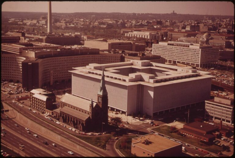 Southwest Washington, D.C. With South End Of L'Enfant Plaza In Foreground, April 1973