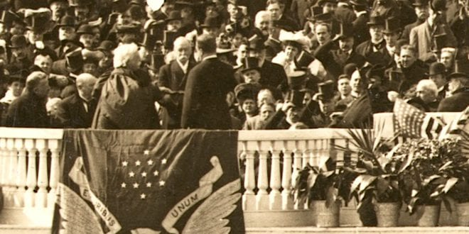 Teddy Roosvelt and the oath of office in 1905