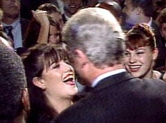 1996 photo of Monica Lewinsky and Bill Clinton