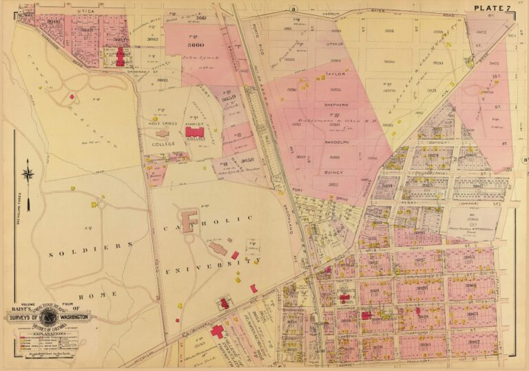 1907 Baist map of Catholic University