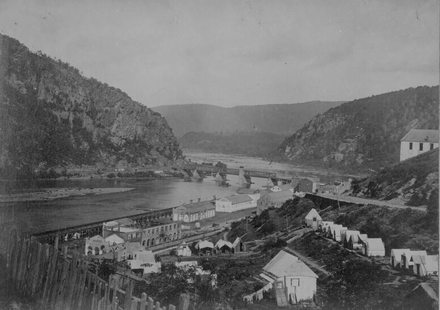 Harpers Ferry and the Potomac River in 1865
