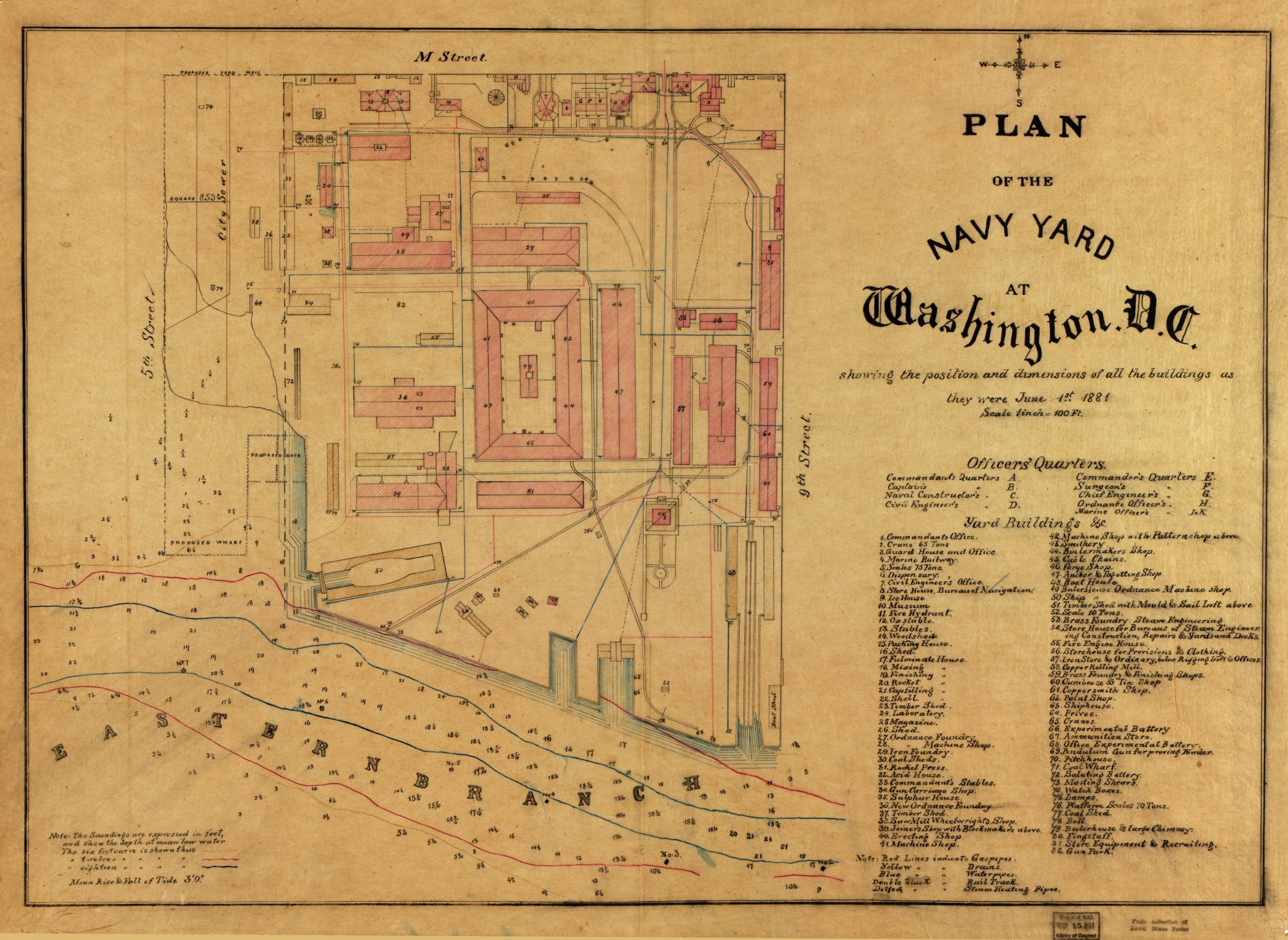 Plan for the Navy Yard in 1881