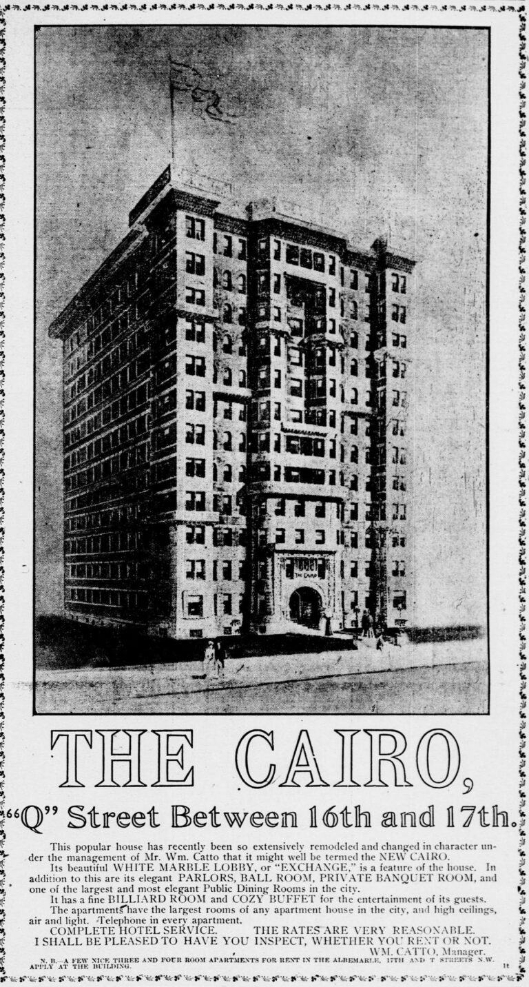 The Cairo in 1906