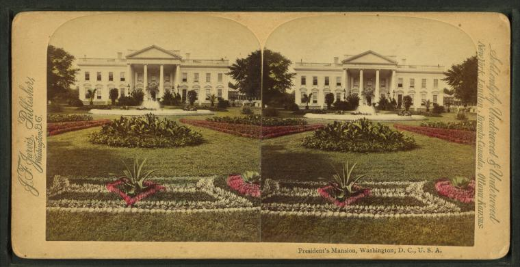 1850 Stereoscopic Photo of the President's Mansion