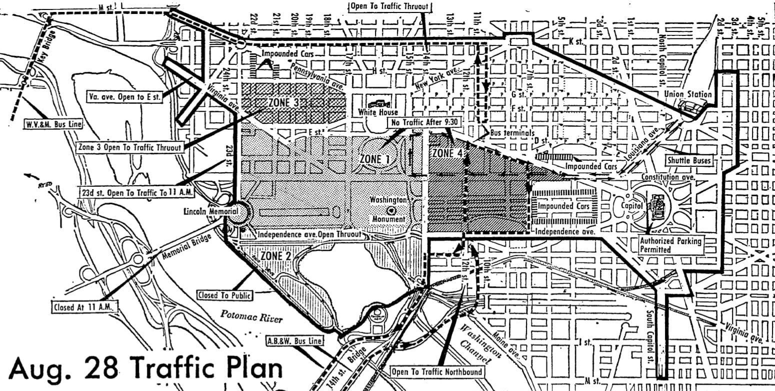 March on Washington traffic map (1963)
