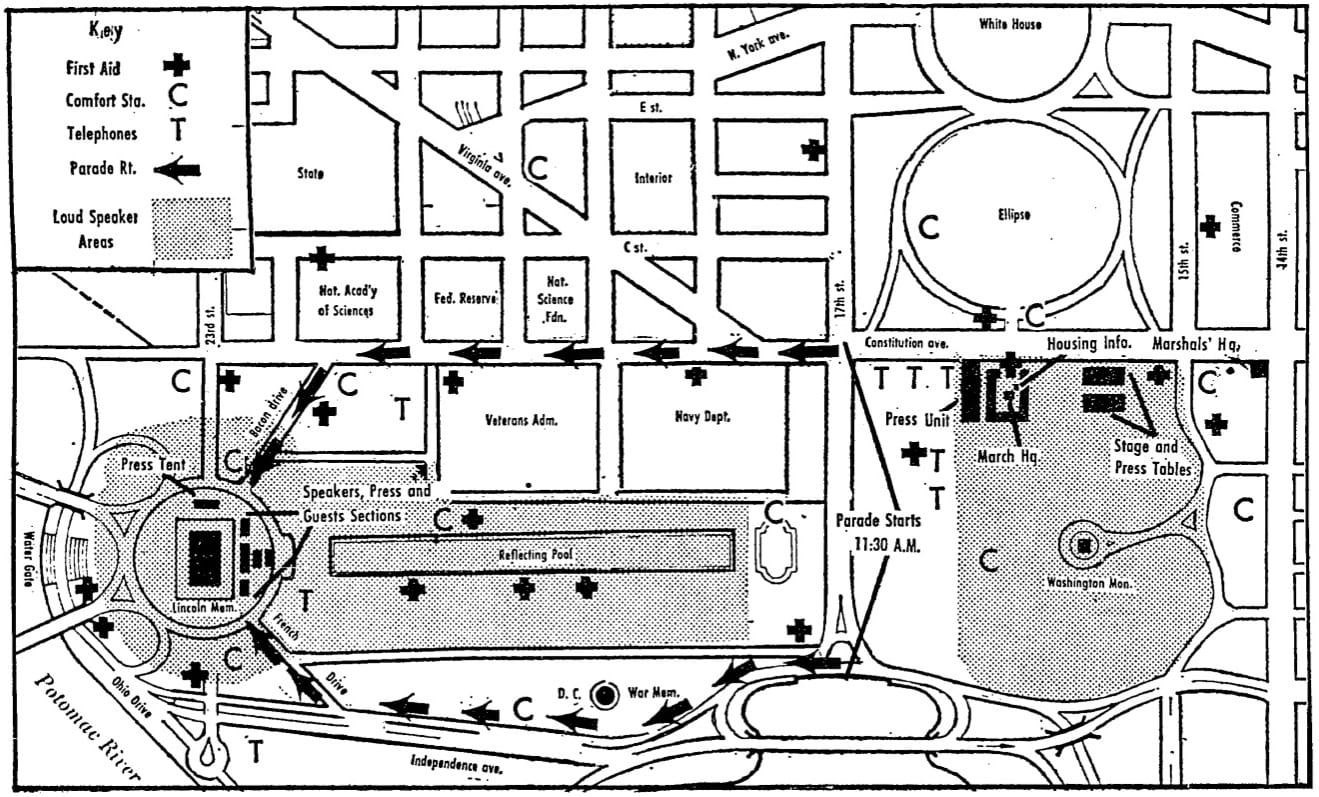 1963 March on Washington site map