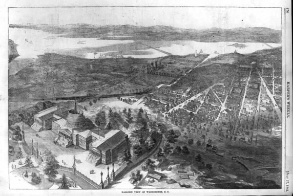 1861 View of Washington From a Balloon