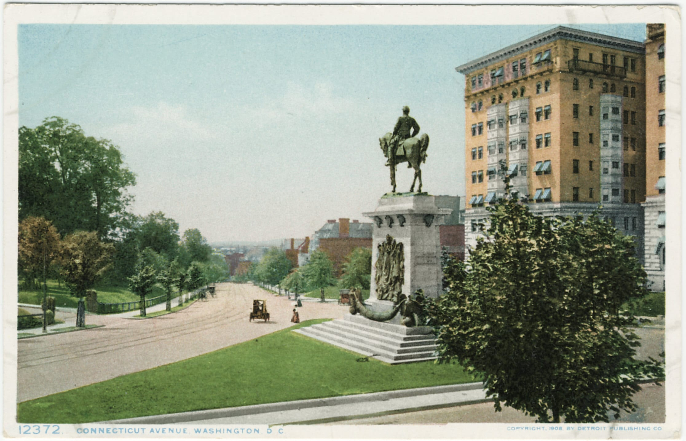Awesome 1908 Postcard View of Connecticut Avenue