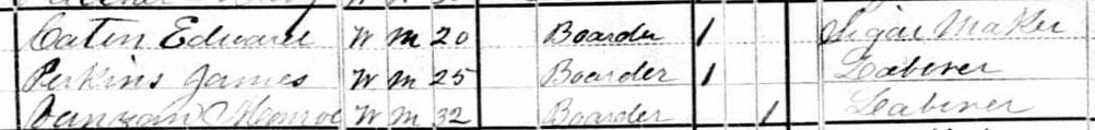 1880 U.S. Census with Edward Caton