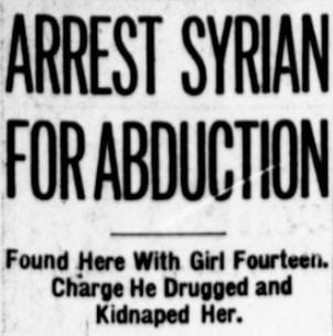 Syrian Man Arrested for Abducting 14-Year-Old; Charged With Slavery