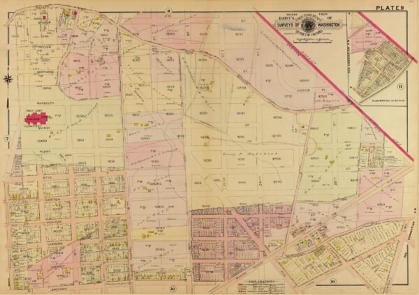 1907 map of Brookland