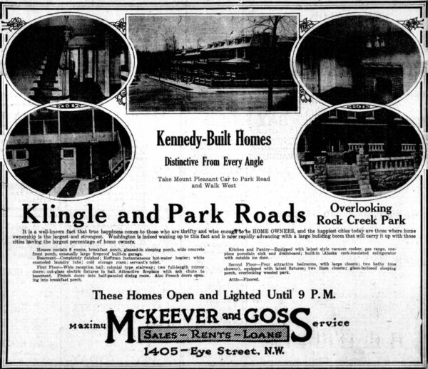 Klingle and Park Roads homes for sale