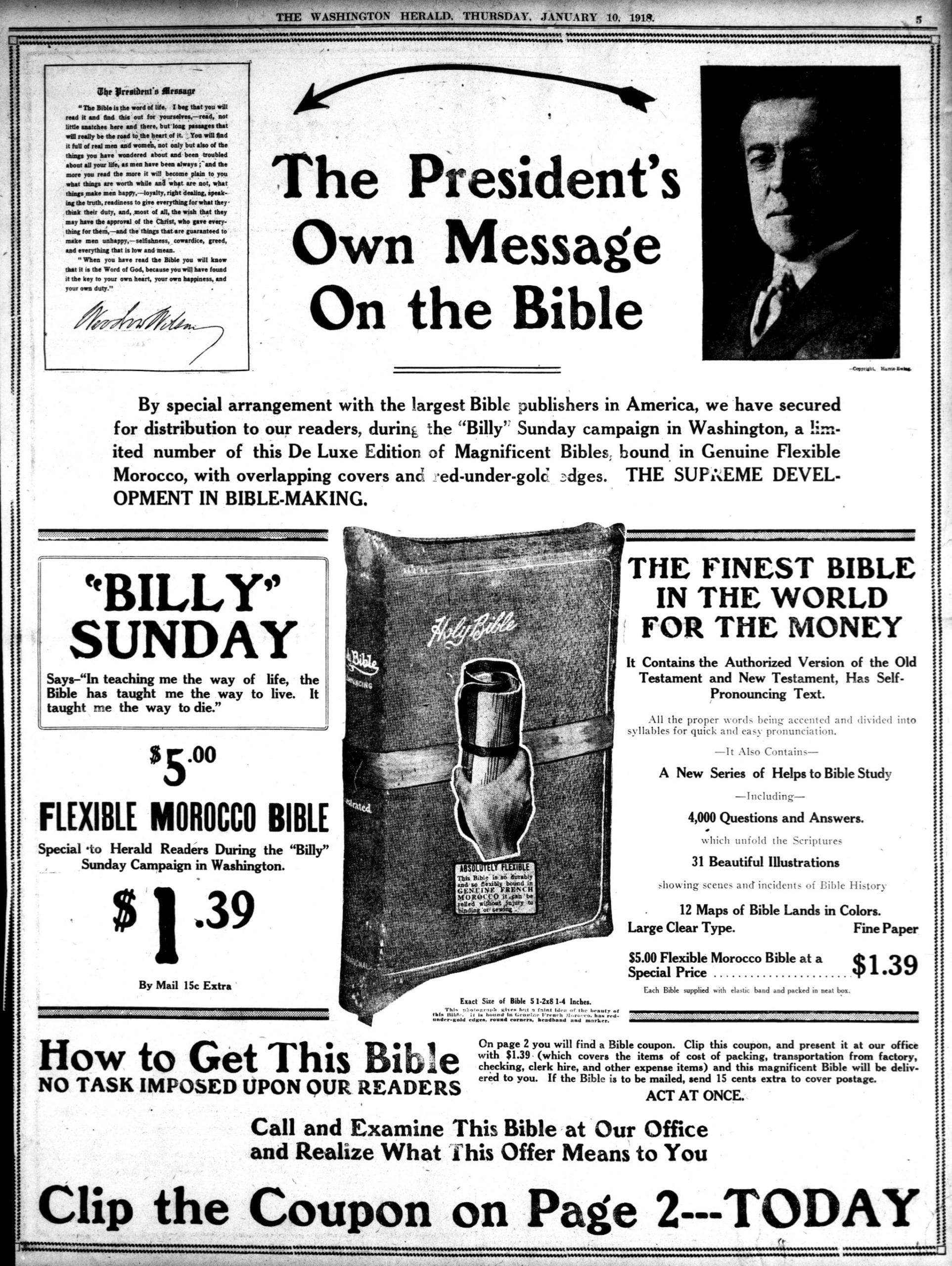 The President's Own Message on the Bible