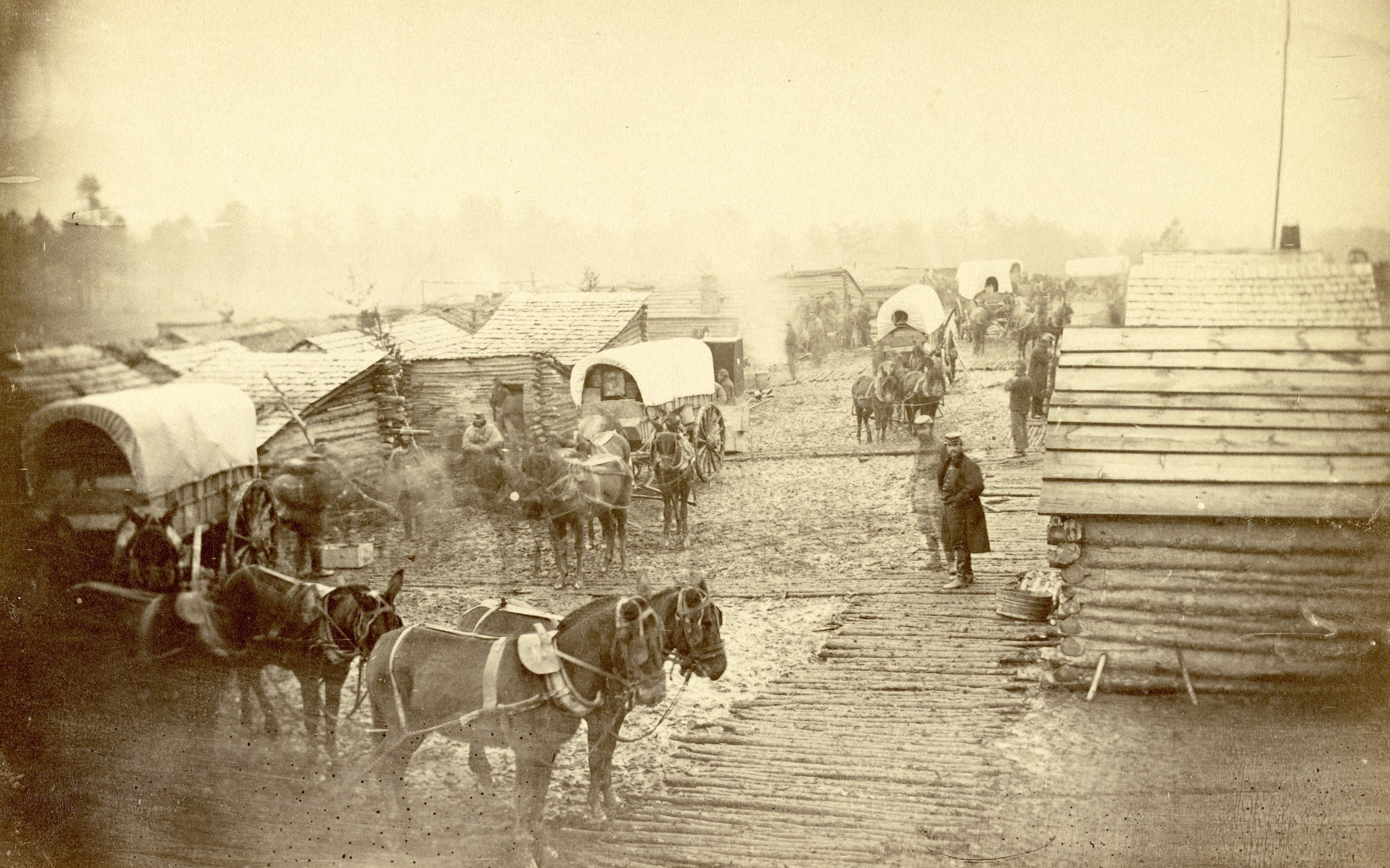 Camp of Union Forces at Centreville During Winter 1861