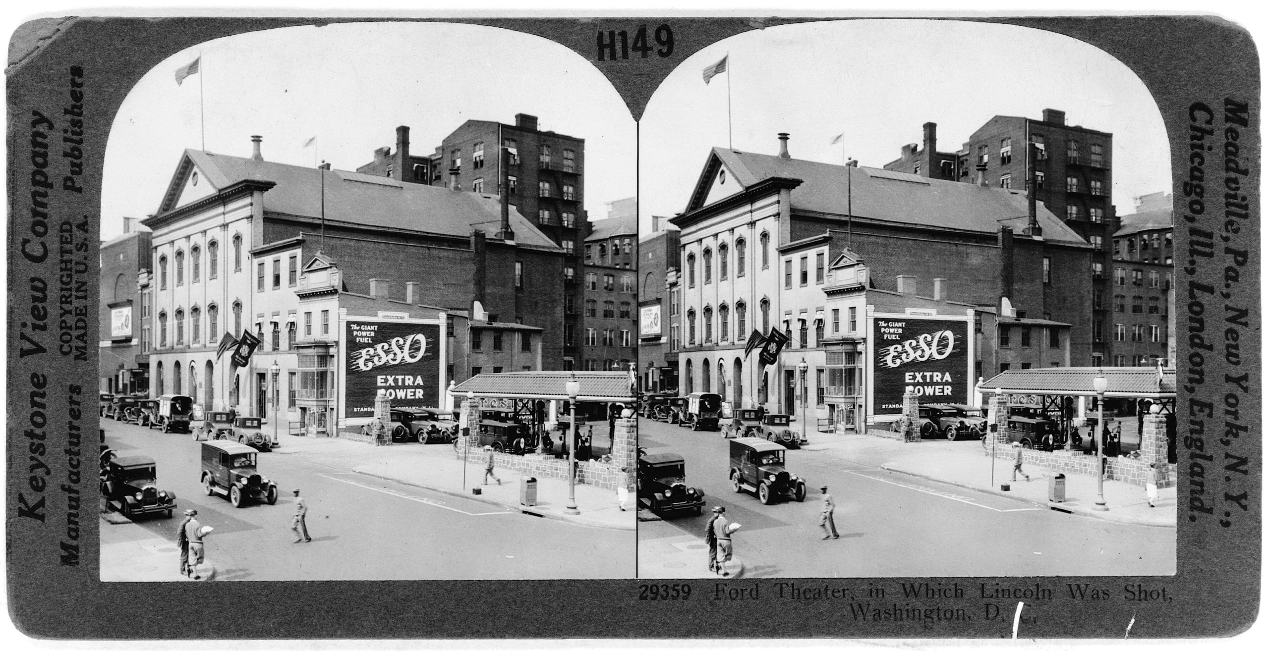 Ford's Theatre Stereograph From 1927