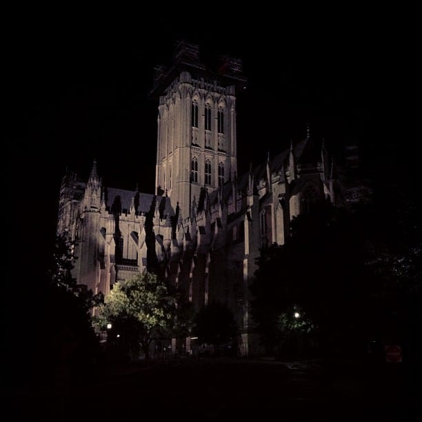 National Cathedral at night