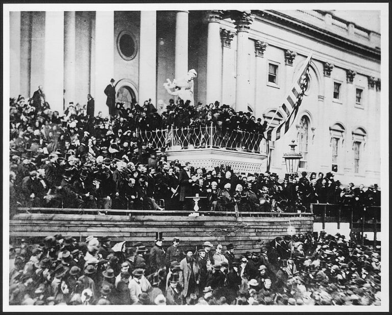 Abraham Lincoln delivers his second inaugural address
