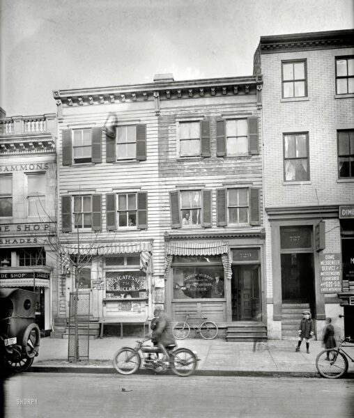 """Washington, D.C., 1920. """"729 12th St., Washington Times."""" Various shades of Twelfth Street. National Photo Co. Collection glass negative."""
