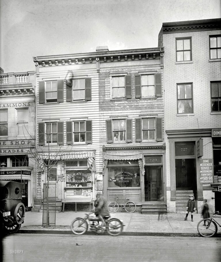 "Washington, D.C., 1920. ""729 12th St., Washington Times."" Various shades of Twelfth Street. National Photo Co. Collection glass negative."