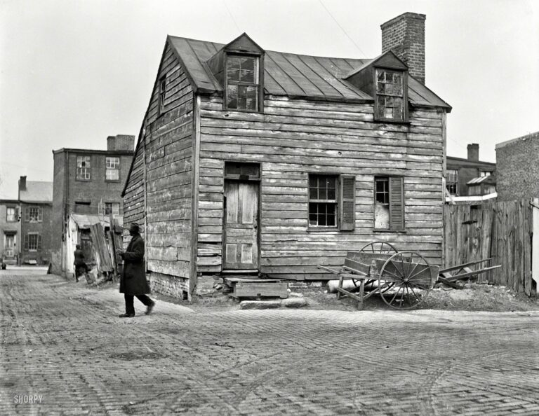 "Washington, D.C., 1923. ""City houses."" One in a series of Harris & Ewing plates documenting the national capital's poorer quarters."
