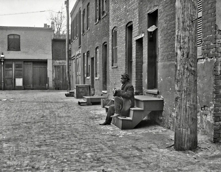West side of Blagden Alley 1923