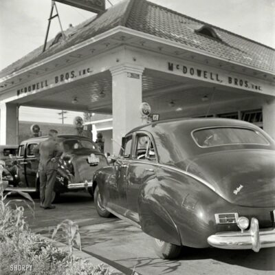 1942 Photo of Friendship Heights Gas Station